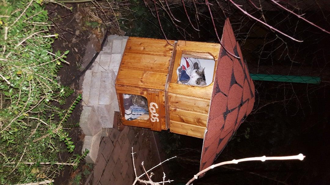 Double Floor Cat House