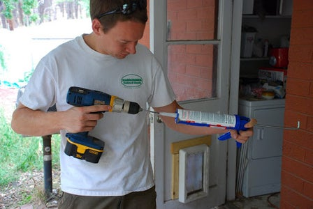 Cut the Tip Off the Caulk Tube and Break the Seal Inside.
