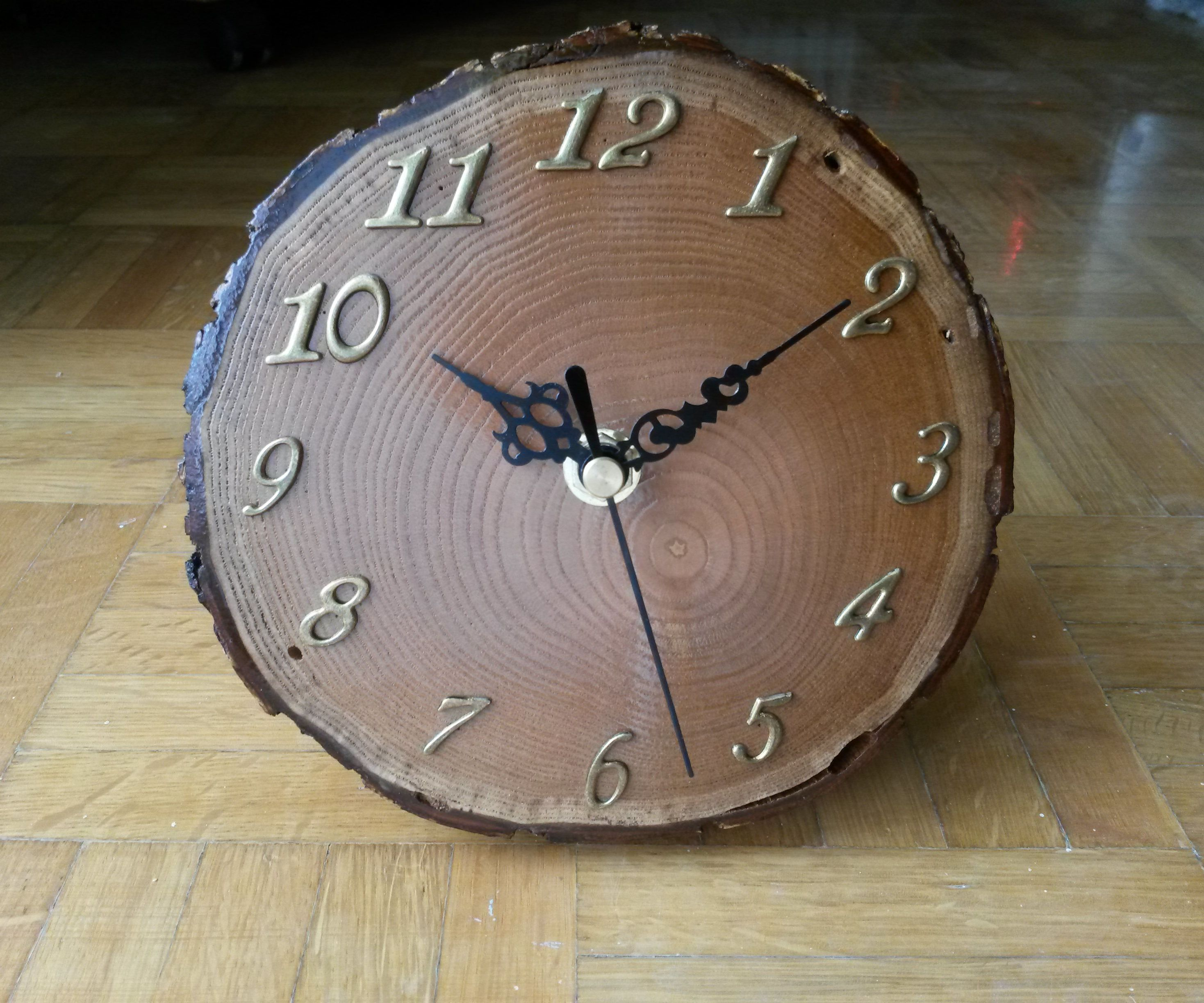 Live Edge Firewood Slice Clock