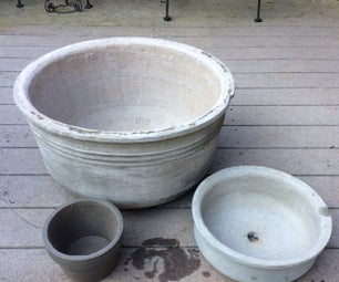 Pots From Sand and Cement, NO MOLDS