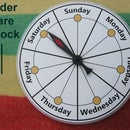 Elder Care Day Reminder Clock