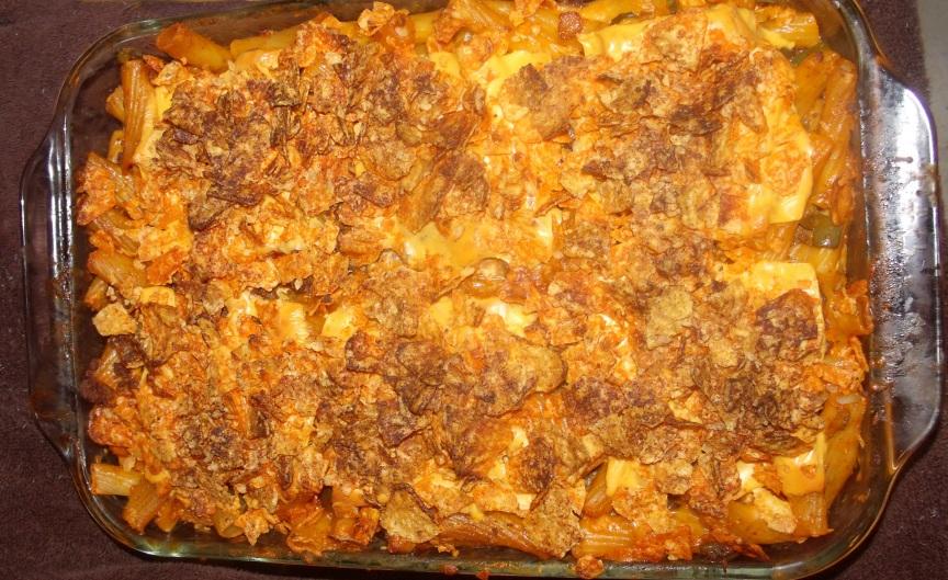 Nacho Mama's MacNcheese an easy casserole
