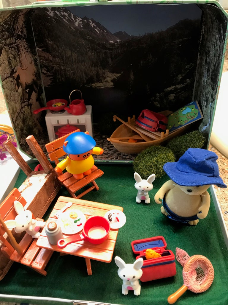 The Finished Camping Travel Dollhouse