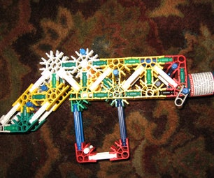 """Knex Party Popper Gun (""""shoots"""" Party Poppers)"""