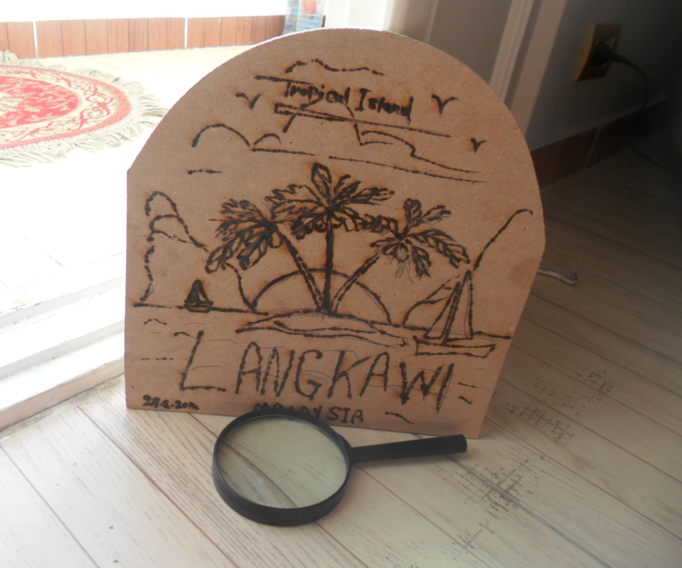 Tropical Island Art - Solar Wood Burn