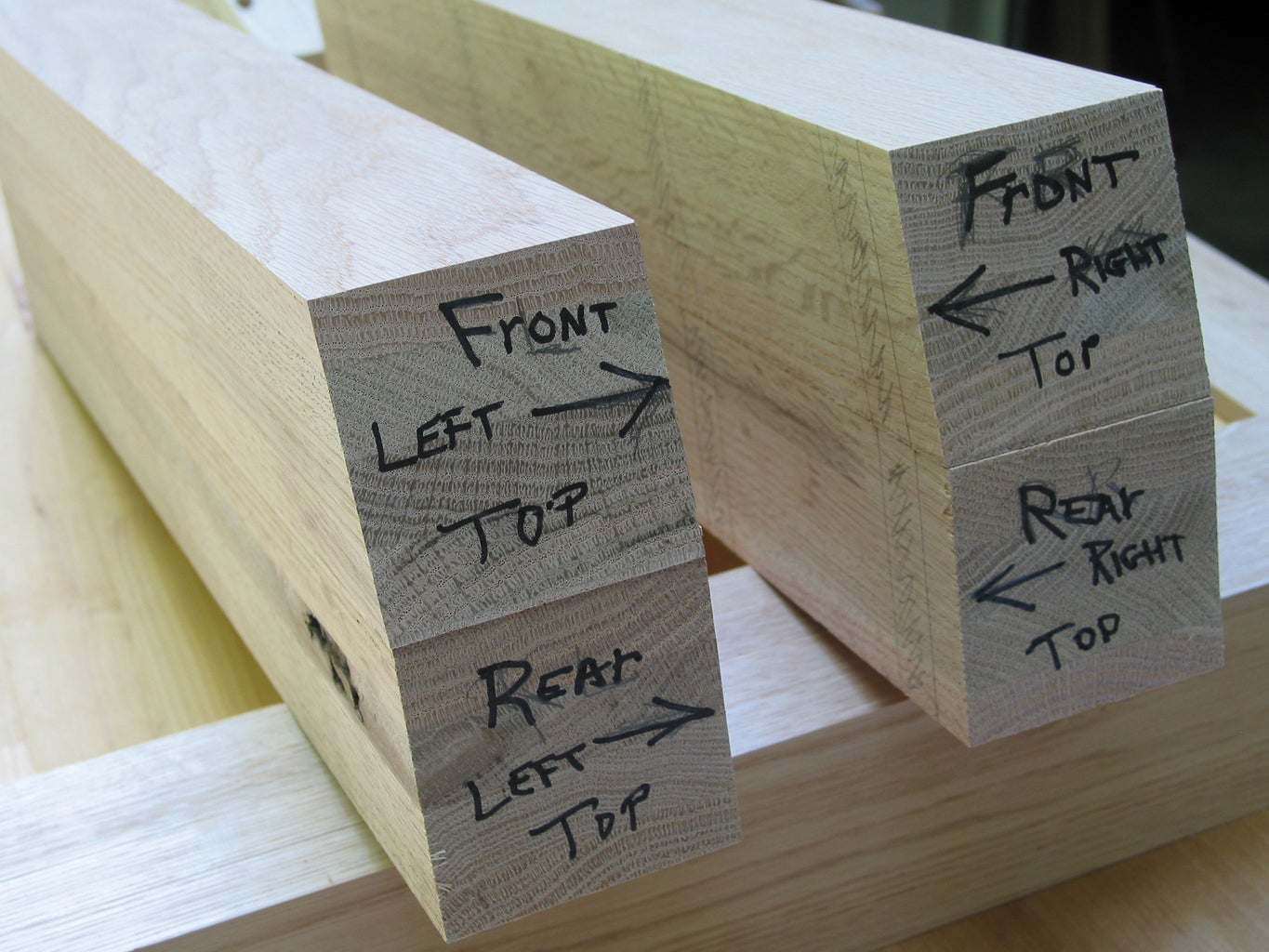 Creating the Legs - Cutting to Length, Determining the Angle & Milling Leg to Thickness