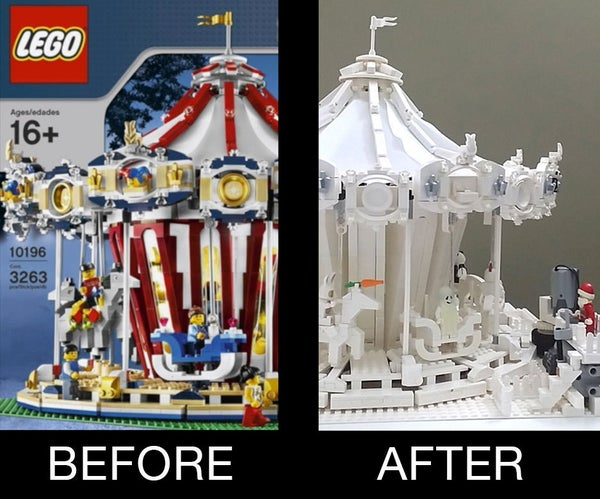 Vintage Lego 10196 From Colors to White