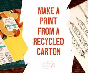 从回收的纸箱打印