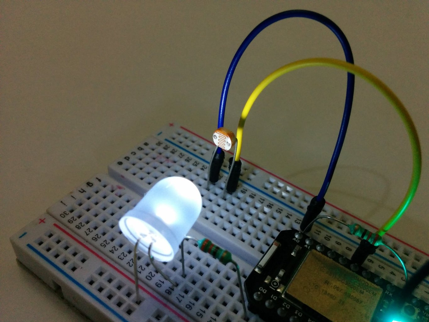 Internet Controlled Motion Detector- Particle Core