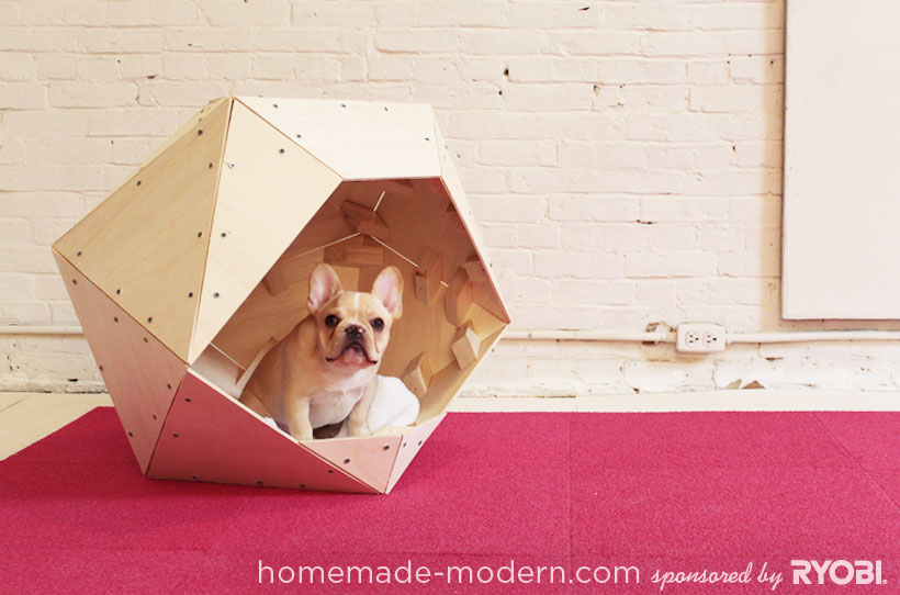 HomeMade Modern DIY Geometric Doghouse