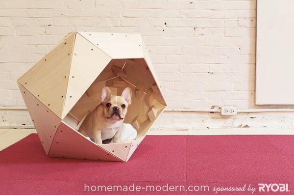 HomeMade Modern DIY Geometric Doghouse
