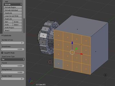 Manipulating Objects: Subdividing- Subdivide