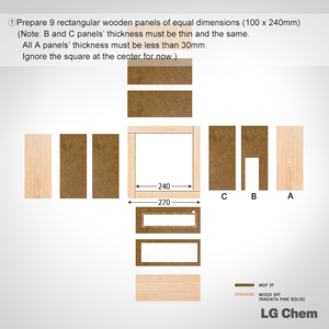 Prepare 9 Rectangular Wooden Panels