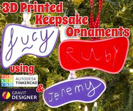 3D印刷的纪念品装饰品
