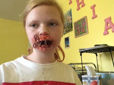 Tied Mouth Stage Makeup