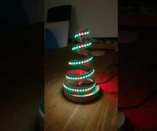 Stylish Small Christmas Tree From Aluminum Strip and WS2812b Led Strip