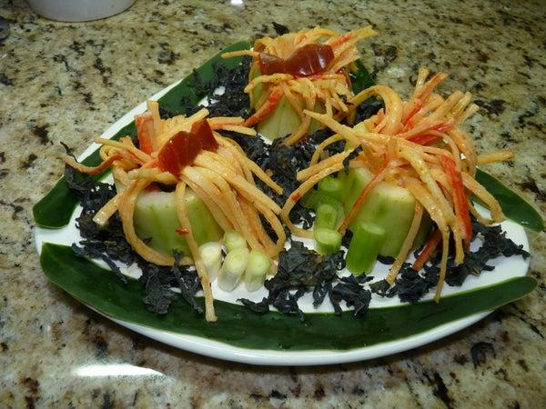 Surime and Cucumber Anemona