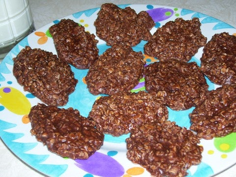 No Bake Choco-Oatmeal Cookies