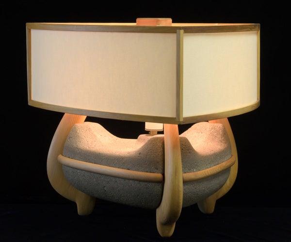 Mid Century Modern Concrete Lamp