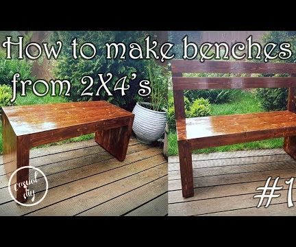How to Build a Garden Bench From 2X4's
