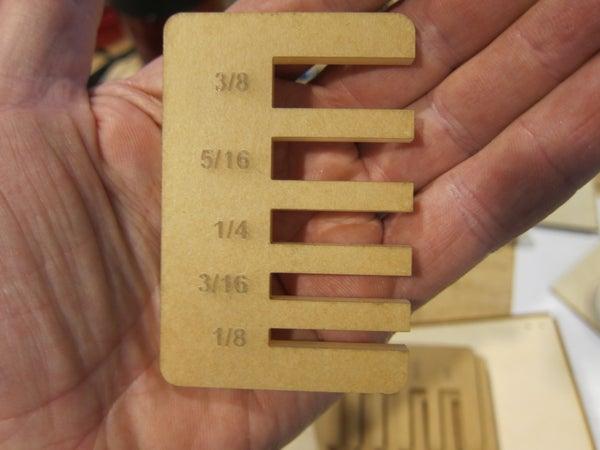 Lasercut Measuring Tool