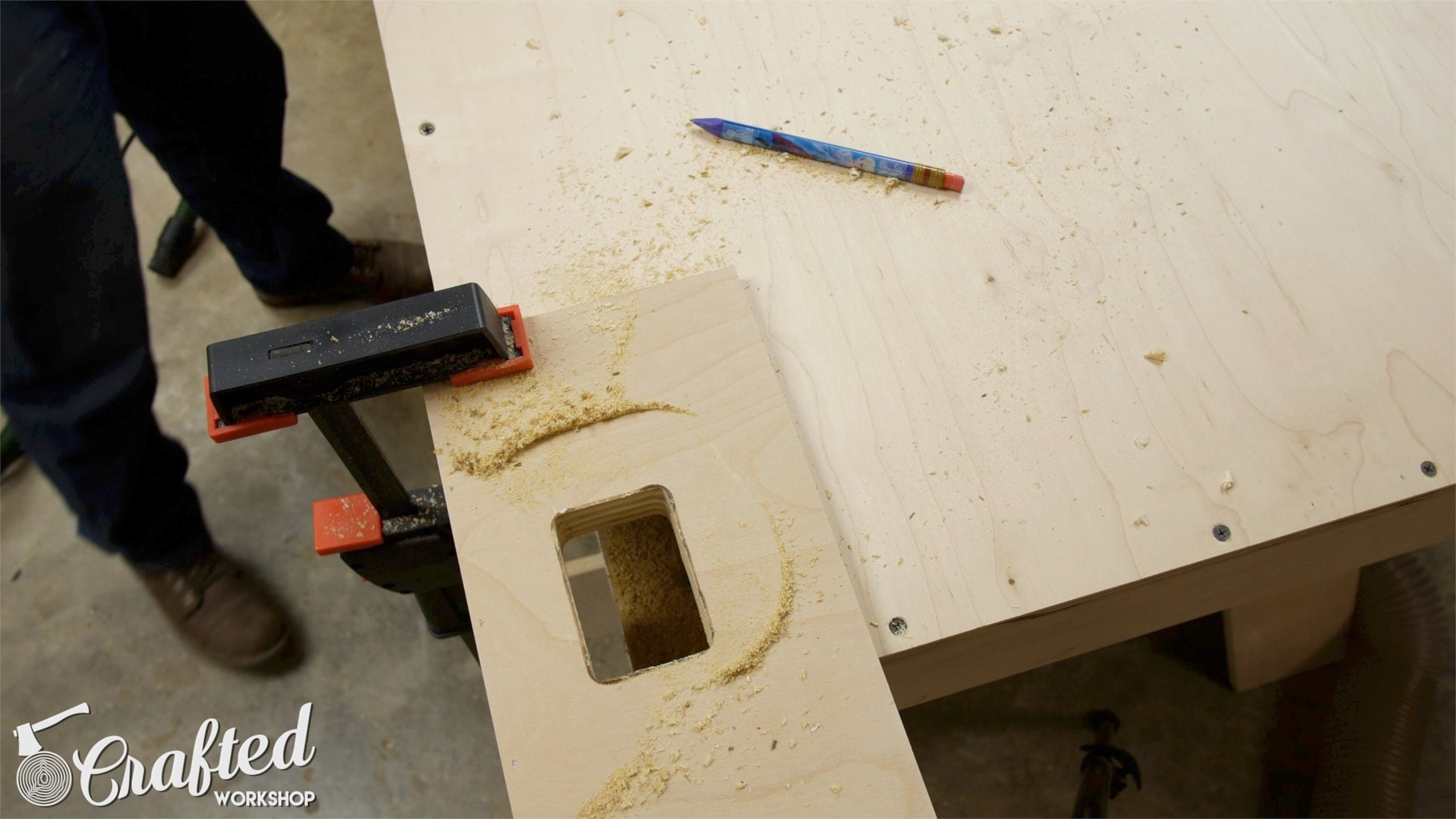 Cut Holes Into Desk PC Midsection