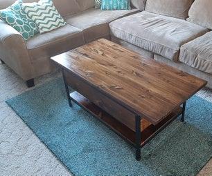 DIY工业咖啡桌与储存