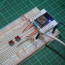 ESP-12F: ESP8266 Module - Minimal Breadboard for Flashing