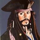 Captain Jack Sparrow Portrait (with Special Curse Effect)!