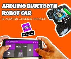 Arduino机器人汽车蓝牙控制和编程与Android  - 角斗士底盘DFROBOT