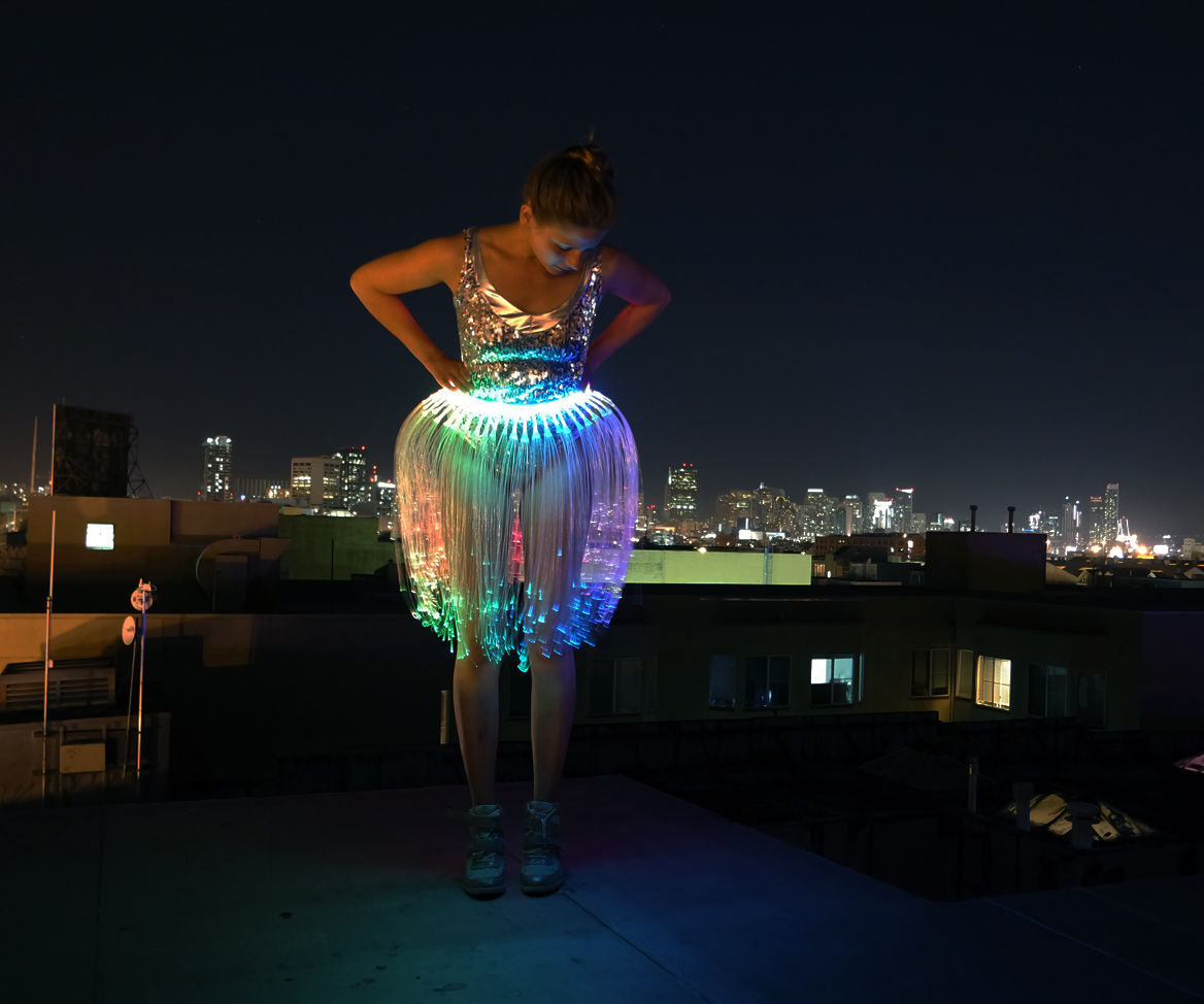 Fiber Optic Jellyfish Skirt
