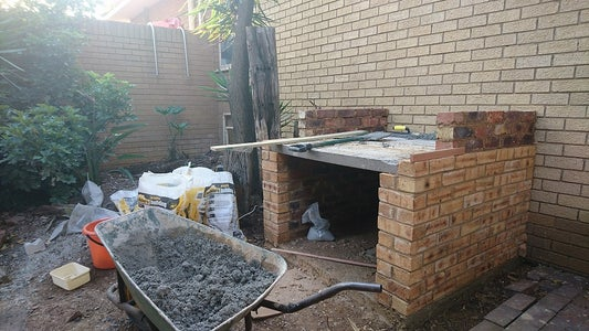 Building Up Oven Walls and Floor