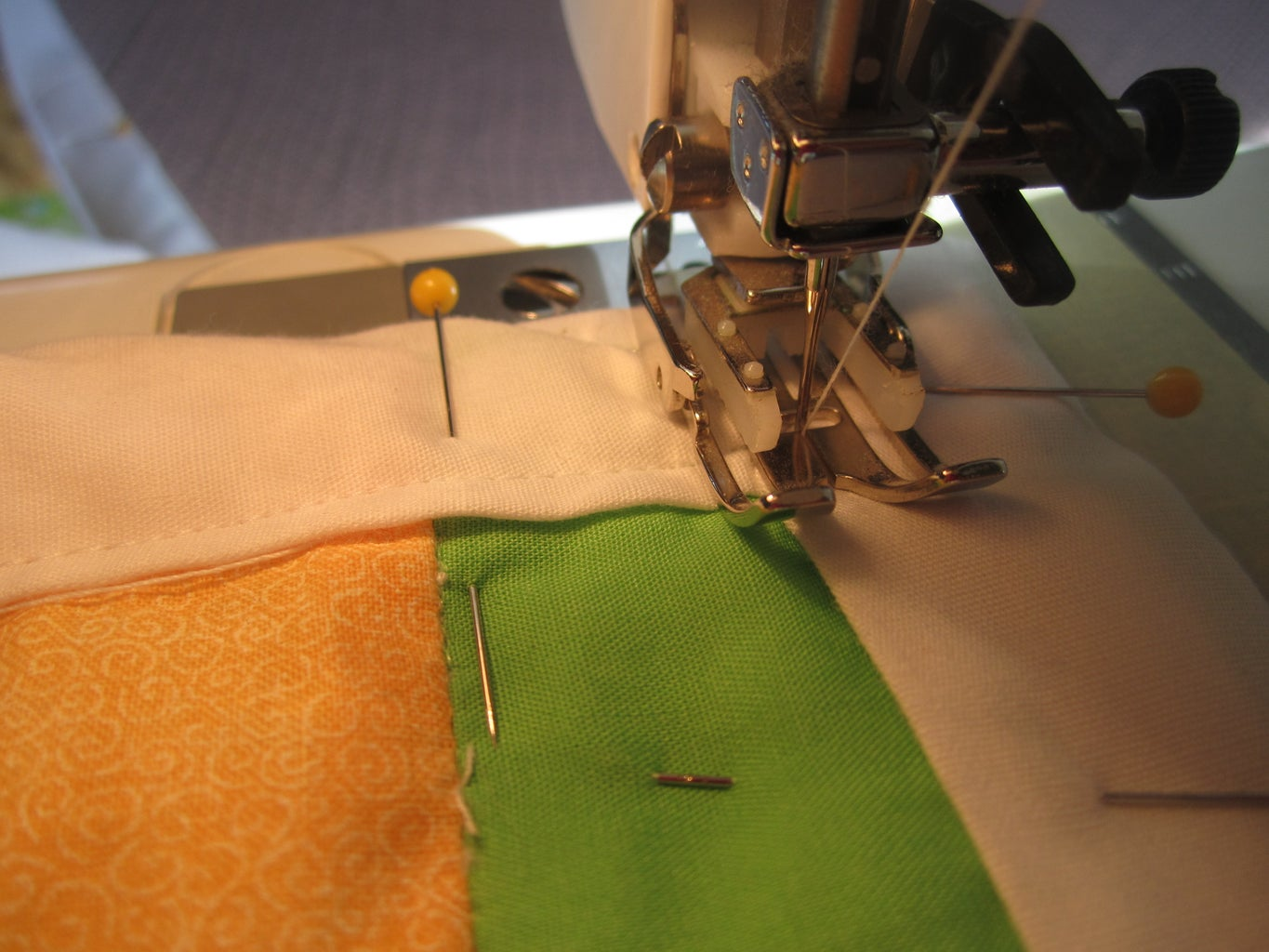 Sewing the Binding, the Front.