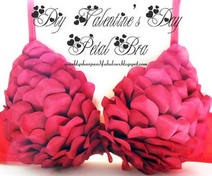 DIY Valentines Day Petal Bra