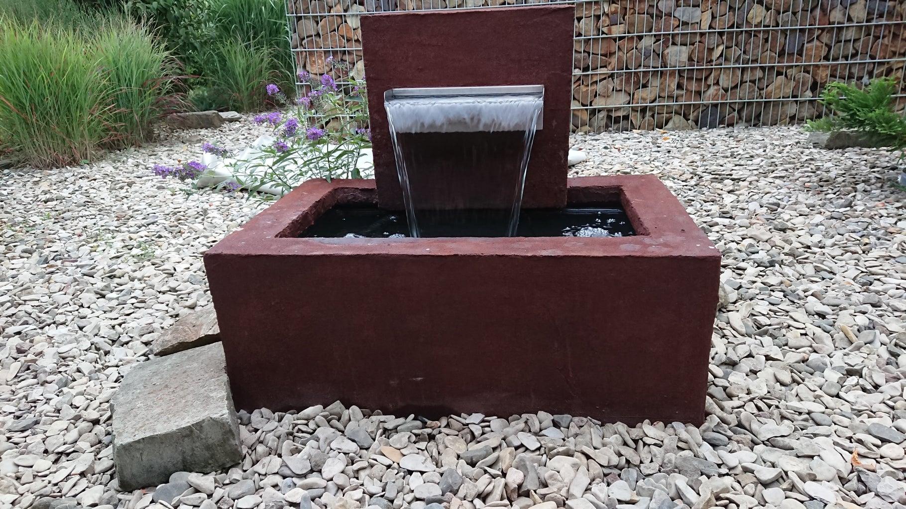 Cement Rusty Fountain