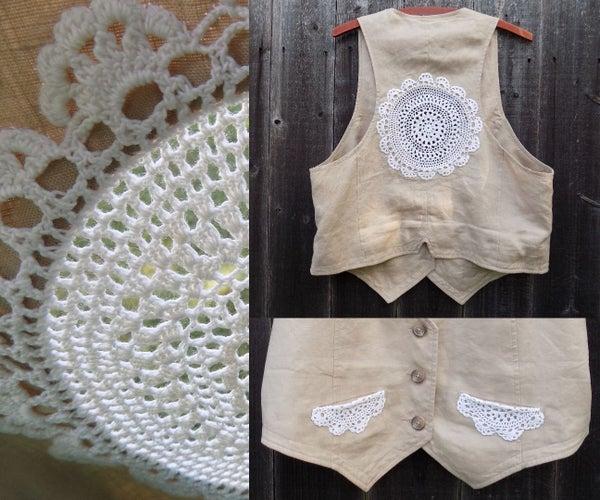 Lace Refashioned Vest