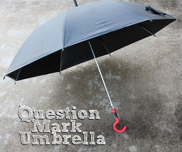Doctor Who Sylvester McCoy Question Mark Umbrella