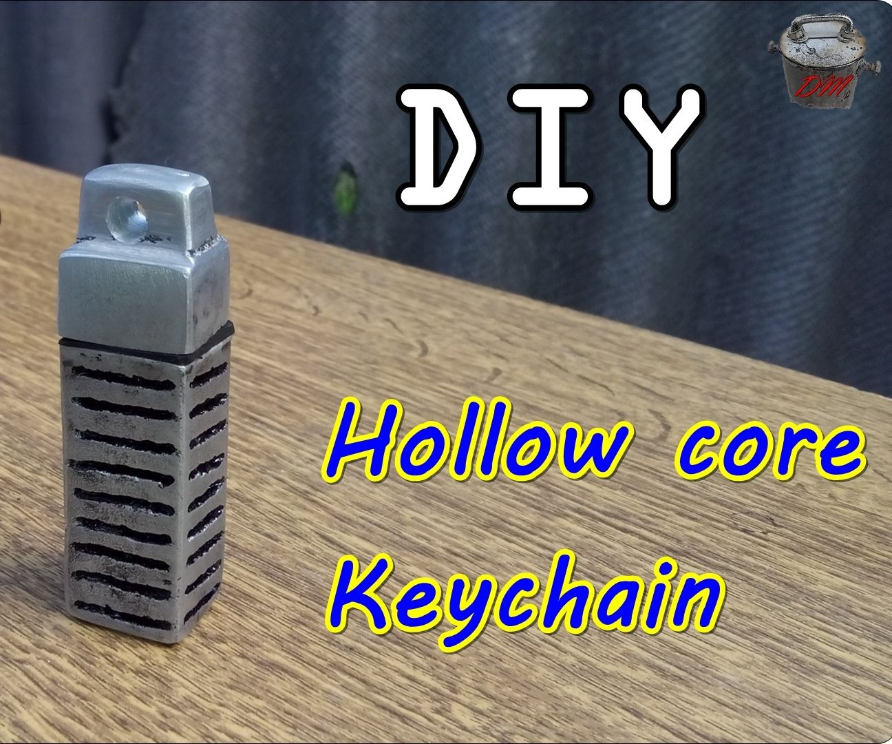 Hollow Core Keychain. DIY - Casting Aluminum at Home