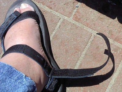 Install the Strap Extensions to the Sandals
