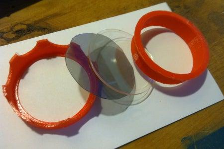 Trim the Polarized Lenses to Slightly Smaller Than 50mm