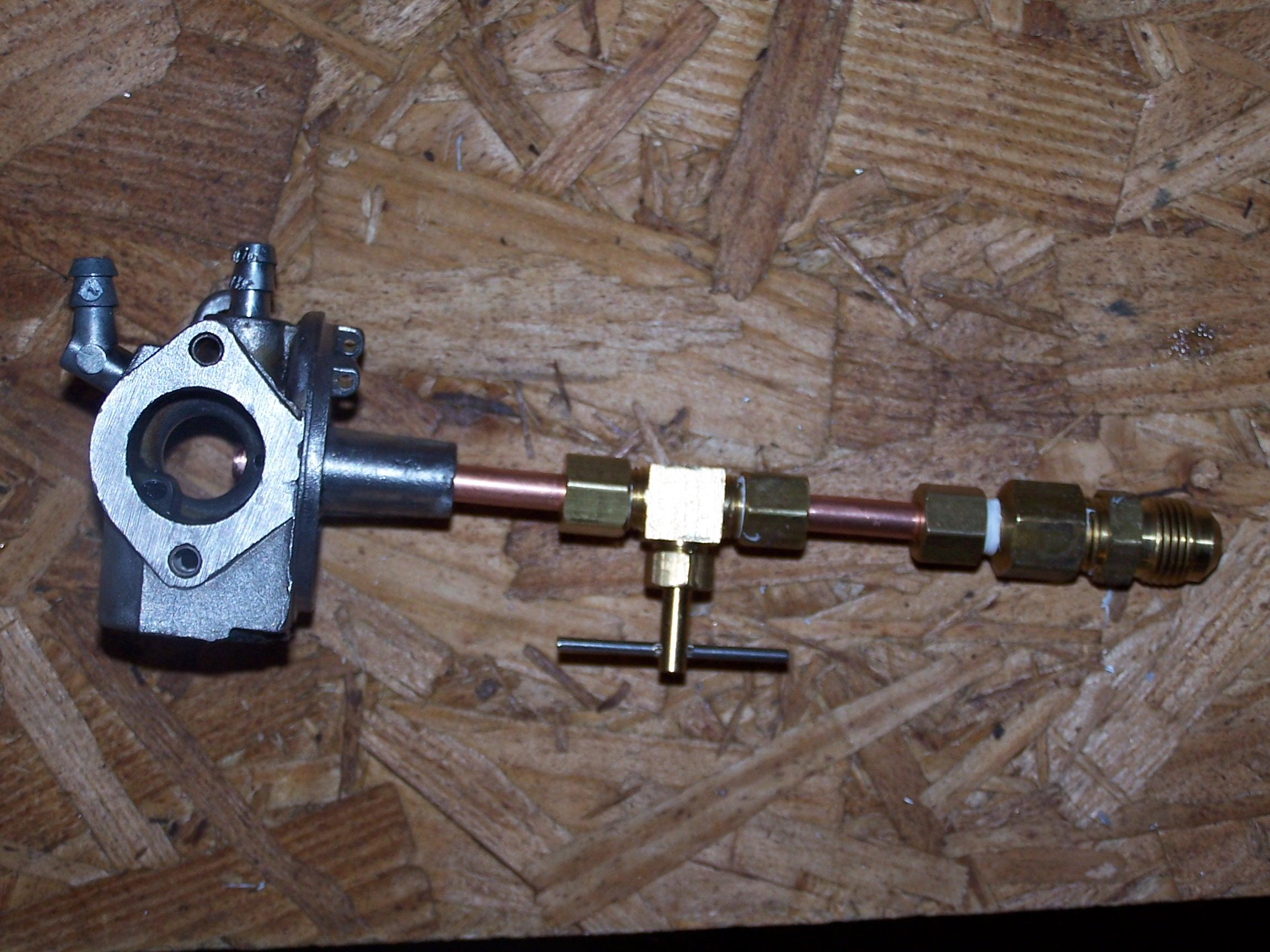 Converting a generator to run on propane