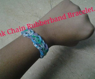 How to Make Link Chain Rubberband Bracelet With No Loom