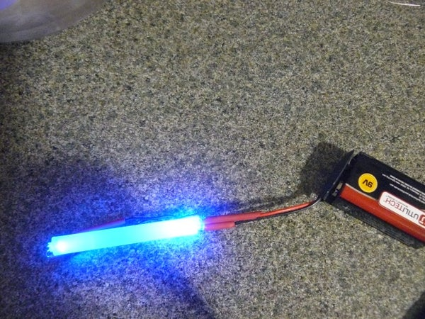 Super Cool Bicycle LED Tail Light Fiber Flair Glowing Glue Stick