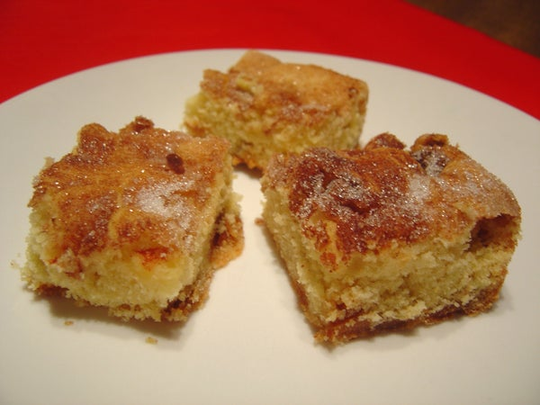 Carmel Apple Snickerdoodle Bars (with Texture Variations)