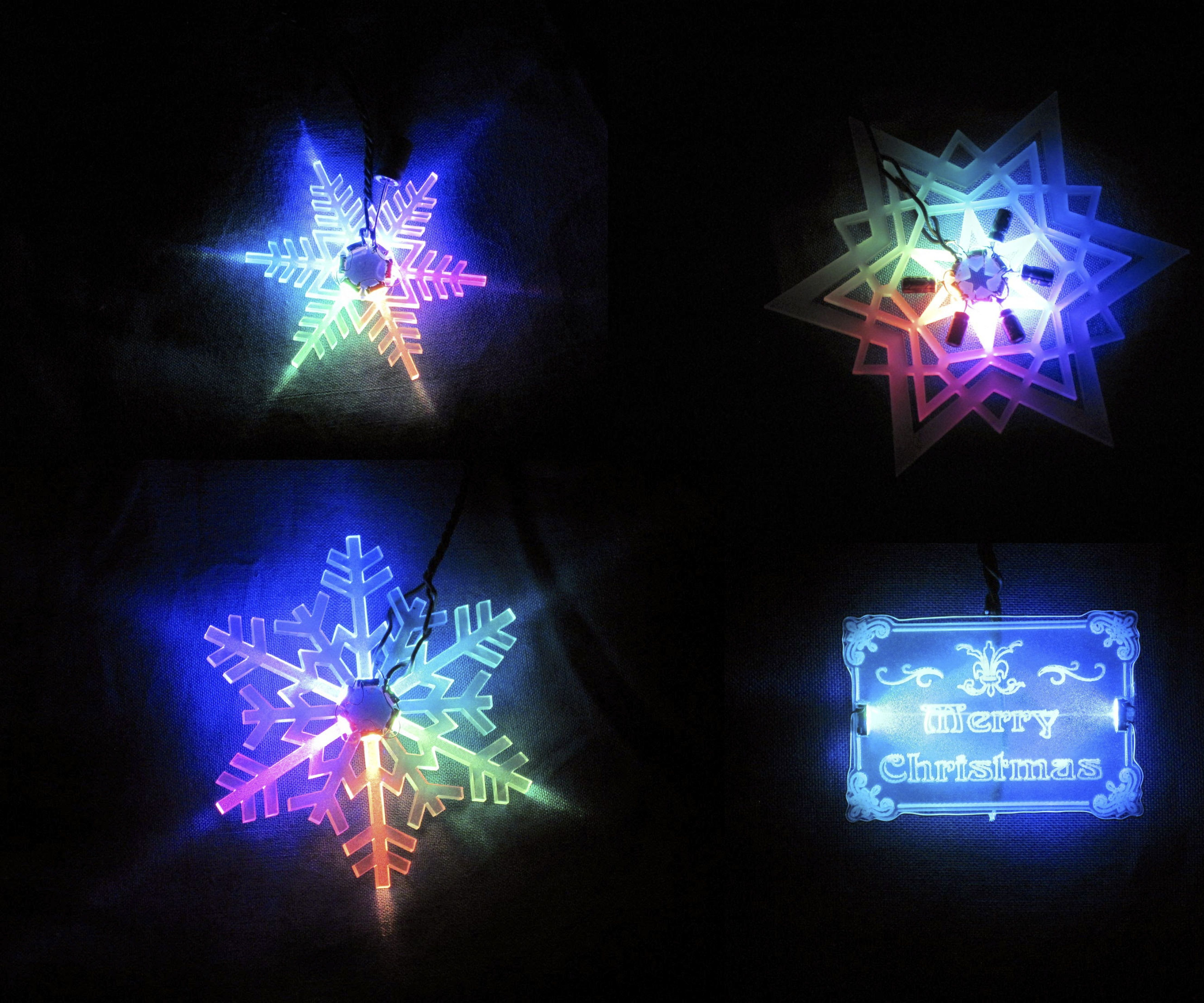 Acrylic LED Christmas Decoration