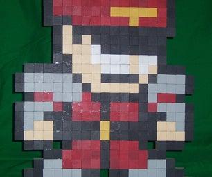3D 8-Bit M. Bison Sprite Sculpture