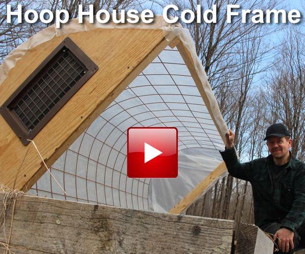 DIY Hoop House Cold Frame For Gardening
