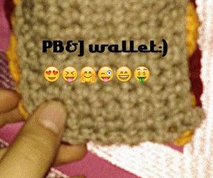 PB AND J Crochet Wallet