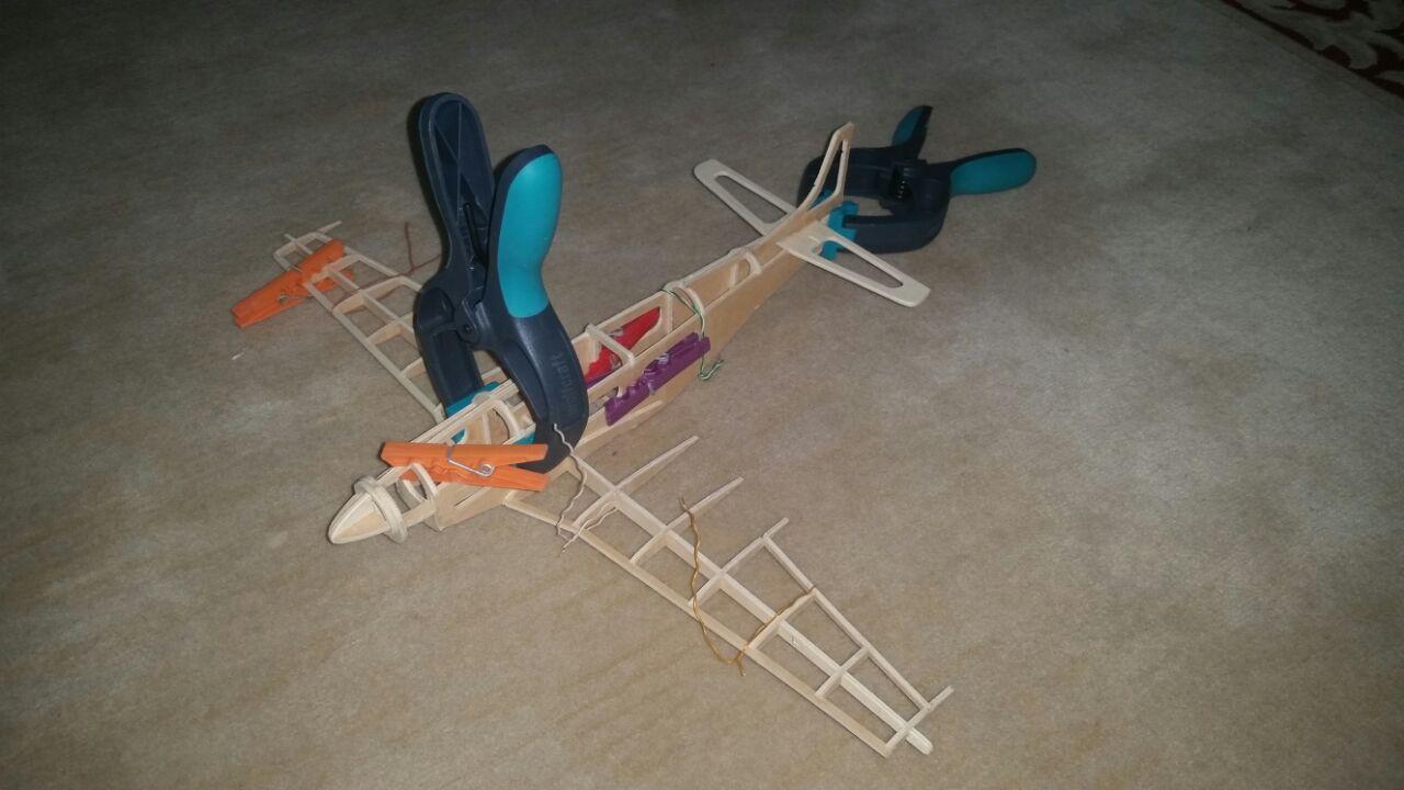 Wood p51 Mustang Plane Test Cutting