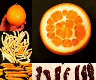 巧克力蘸橙皮 - 橘子